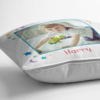 personalised Boy's Moon & Stars Photo Cushion
