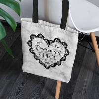personalised Bridesmaid Marble Canvas Tote Bag