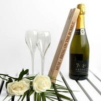 personalised Wooden Champagne Holder