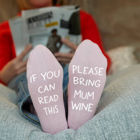 personalised bring me wine socks