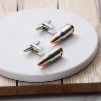 personalised Bullet Cufflinks Gift Set