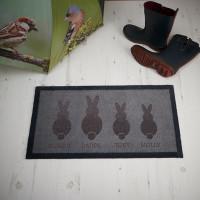 personalised Bunny Family Doormat