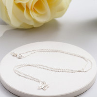 personalised Silver Butterfly Pendant