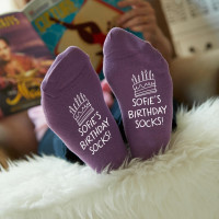 personalised birthday cake socks