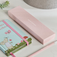 personalised Pink Forest Fairies Dreams & Wishes Notebook Gift Set