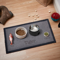 personalised Cat Food & Water Doormat