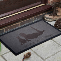 personalised Cat and Owner Doormat