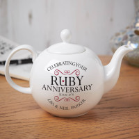 personalised ruby anniversary teapot
