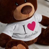 Personalised I Heart You Chocolate Teddy Bear