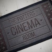 personalised Cinema Room Doormat