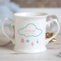 Personalised Cloud Baby Mobile Christening Mug