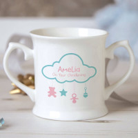 Personalised Cloud Baby Mobile Christening Mug