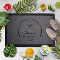 personalised Cocktail Bar Doormat