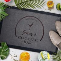 personalised Cocktail Bar Doormat