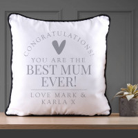 Personalised Best Mum Piped Cushion