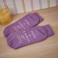 personalised 20th anniversary socks