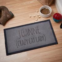 personalised Crazy Cat Lady Doormat