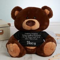 Personalised Cuddle Snuggle Choc Charlie Teddy Bear