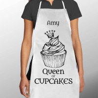 Personalised Cupcakes Queen Apron