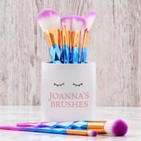 Personalised Lashes Makeup Brush Pot