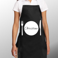 Personalised Dinner Plate Apron