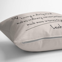 personalised Dirty Minds Cotton Cushion