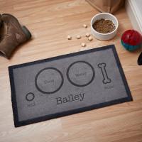 personalised dog food mat