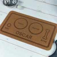 personalised Dog Food & Water Outdoor Engraved Doormat
