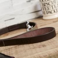 personalised Green Tweed Dog Lead