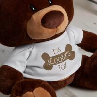 personalised bone toy choc charlie teddy bear