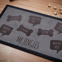 personalised Doggy Likes Doormat