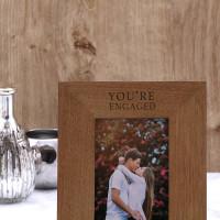 personalised engaged wood frame