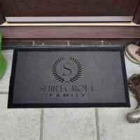 personalised family crest doormat