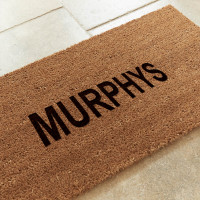 personalised 1 line doormat