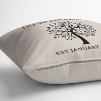 personalised Family Tree Cotton Cushion
