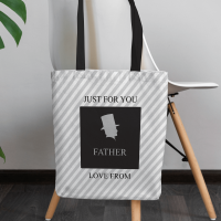 personalised Father of the Bride/Groom Canvas Tote Bag