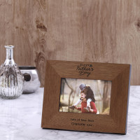personalised Fathers Day Wood Frame 6x4