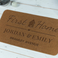 personalised First Home Engraved Doormat