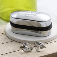 personalised fishing hook cufflinks