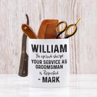 personalised Fix Up Look Sharp Shaving Pot