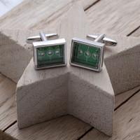 personalised Football Game Cufflinks Gift Set