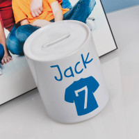 personalised Football T-shirt Personalised Money Box