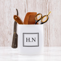 personalised framed initials shaving pot