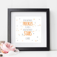personalised A Face Without Freckles Wall Art