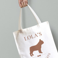 personalised Dog Canvas Tote Bag