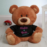 Personalised Friends 4 Ever Caramel Charlie Bear