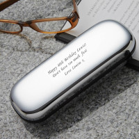 40th Birthday Chrome Personalised Glasses Case
