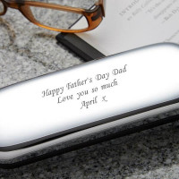 Personalised Chrome Glasses Case 1