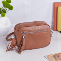 personalised Leather Crossbody Bag Brown