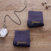 personalised grey name socks